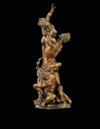 A BRONZE GROUP OF THE RAPE OF A SABINE